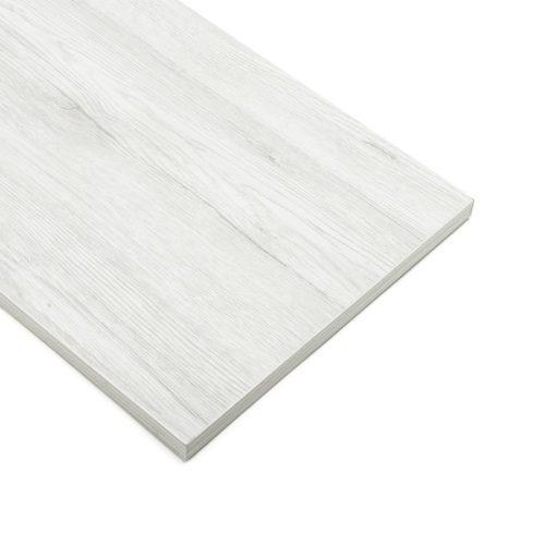 Lamellenwande Regale Weiß Eiche (40cmx120cm)