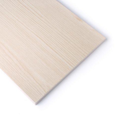 Lamellenwande Regale Weiß Eschenholz (30cmx120cm)